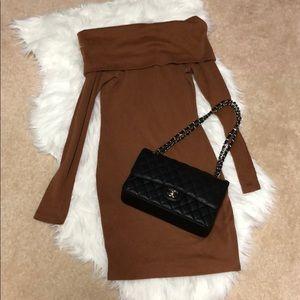 Dresses & Skirts - Off Shoulder Mini Sweater Dress